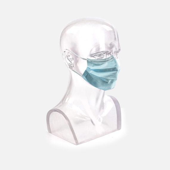 Vue du masque chirurgical de Type 2R sur mannequin adulte