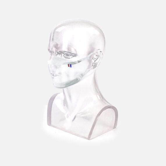 Masque inclusif transparent sur mannequin adulte