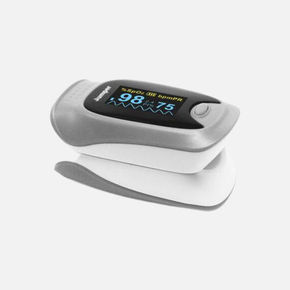 Oxymètre de pouls digital de couleur gris