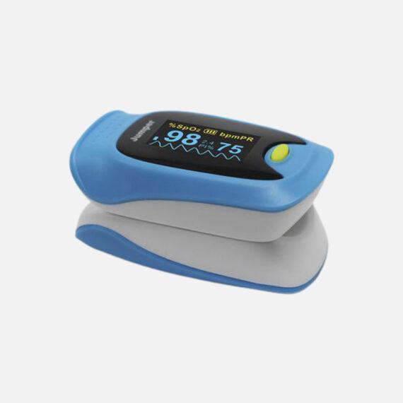 Oxymètre de pouls digital de couleur bleu