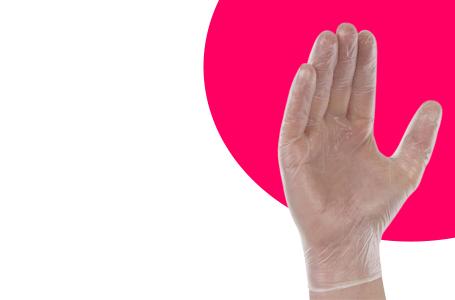 Exposition des gants vinyle